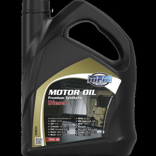 MPM MOTOR OIL 10W-40 PREMIUM SYNTHETIC DIESEL 5 LITER 05005A