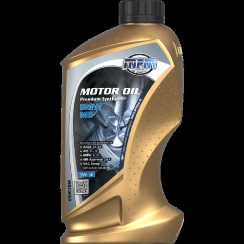 MPM MOTOR OIL 5W-30 PREMIUM SYNTHETIC BMW / MB 1 LITER 05001BM