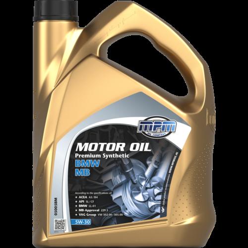 MPM MOTOR OIL 5W-30 PREMIUM SYNTHETIC BMW / MB 5 LITER 05005BM