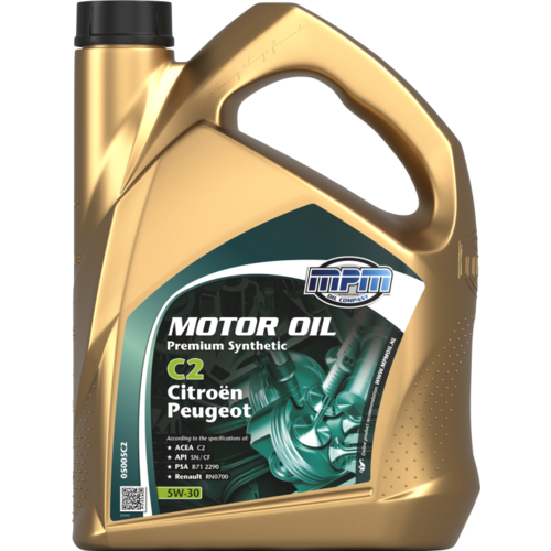MPM MOTOR OIL 5W-30 PREMIUM SYNTHETIC C2 CITROËN / PEUGEOT 5 LITER 05005C2