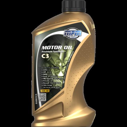 MPM MOTOR OIL 5W-40 PREMIUM SYNTHETIC C3 1 LITER 05001C3