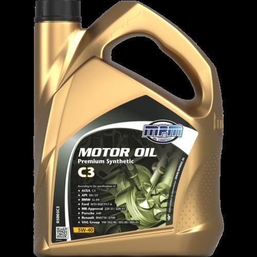 MPM MOTOR OIL 5W-40 PREMIUM SYNTHETIC C3 5 LITER 05005C3