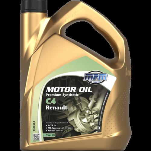 MPM MOTOR OIL 5W-30 PREMIUM SYNTHETIC C4 RENAULT 5 LITER 05005C4