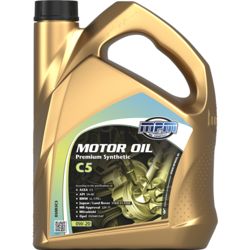MPM MOTOR OIL 0W-20 PREMIUM SYNTHETIC C5 5 LITER 05005C5