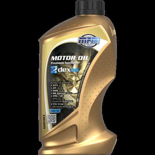 MPM MOTOR OIL 5W-30 PREMIUM SYNTHETIC GM DEXOS 2 1 LITER 05001DEX