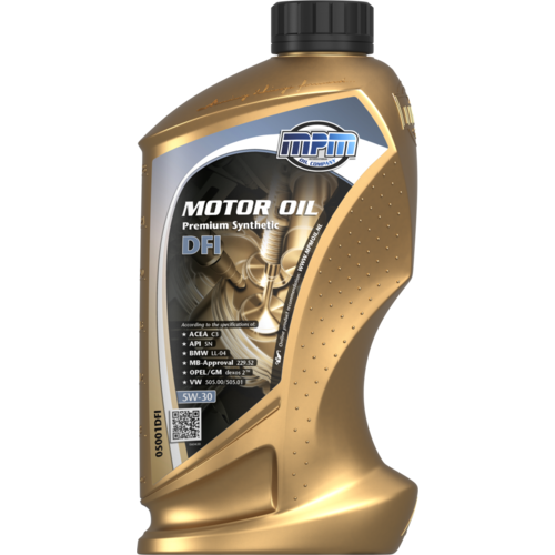 MPM MOTOR OIL 5W-30 PREMIUM SYNTHETIC DFI 1 LITER 05001DFI