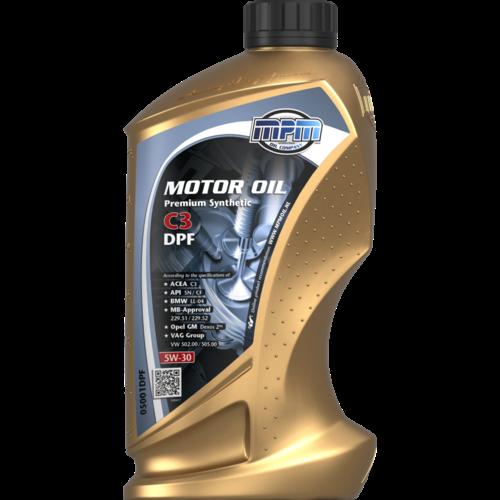 MPM MOTOR OIL 5W-30 PREMIUM SYNTHETIC C3 DPF 1 LITER 05001DPF