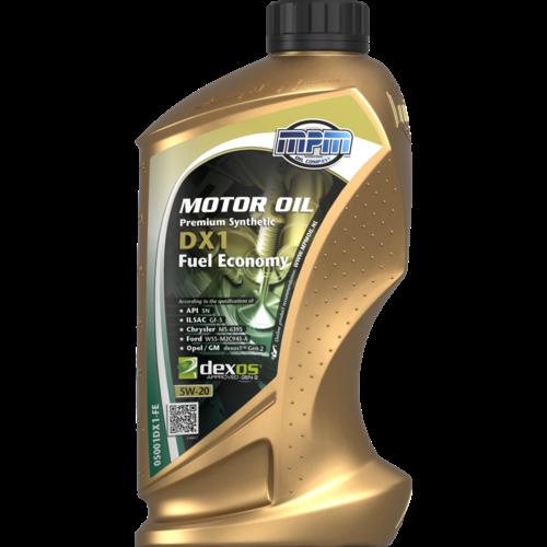 MPM MOTOR OIL 5W-20 PREMIUM SYNTHETIC DX1 FUEL ECONOMY 1 LITER 05001DX1-FE