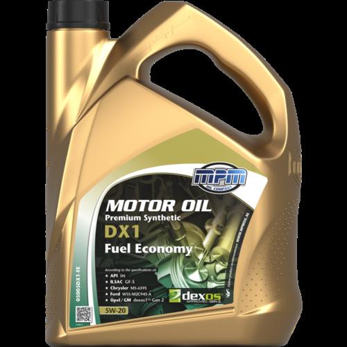 MPM MOTOR OIL 5W-20 PREMIUM SYNTHETIC DX1 FUEL ECONOMY 5 LITER 05005DX1-FE