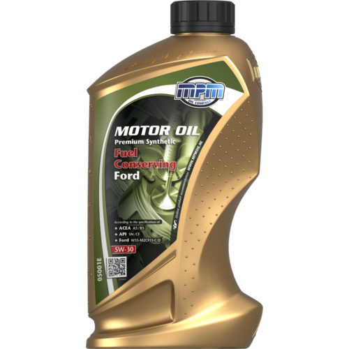 MPM MOTOR OIL 5W-30 PREMIUM SYNTHETIC FUEL CONSERVING FORD 1 LITER 05001E