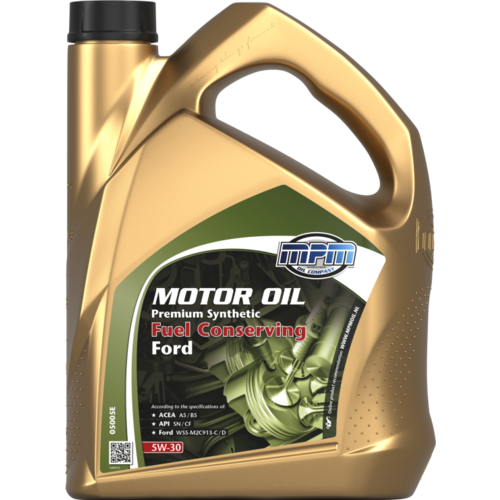 MPM MOTOR OIL 5W-30 PREMIUM SYNTHETIC FUEL CONSERVING FORD 5 LITER 05005E