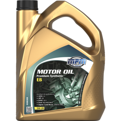 MPM MOTOR OIL 5W-20 PREMIUM SYNTHETIC EB 5 LITER 05005EB