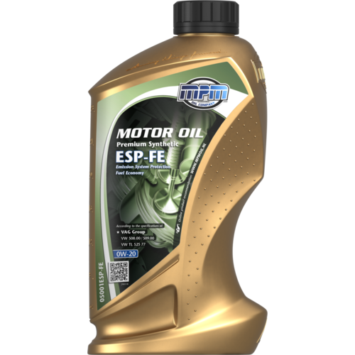 MPM MOTOR OIL 0W-20 PREMIUM SYNTHETIC ESP-FE 1 LITER 05001ESP-FE