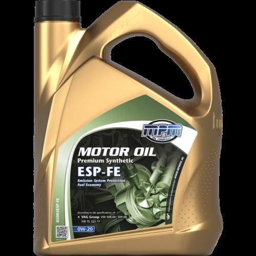 MPM MOTOR OIL 0W-20 PREMIUM SYNTHETIC ESP-FE 5 LITER 05005ESP-FE