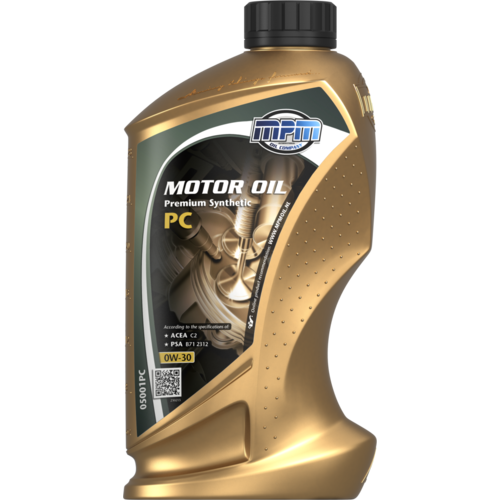 MPM  MOTOR OIL 0W-30 PREMIUM SYNTHETIC PC 1 LITER 05001PC