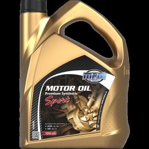 MPM MOTOR OIL 10W-60 PREMIUM SYNTHETIC SPORT 5 LITER 05005R