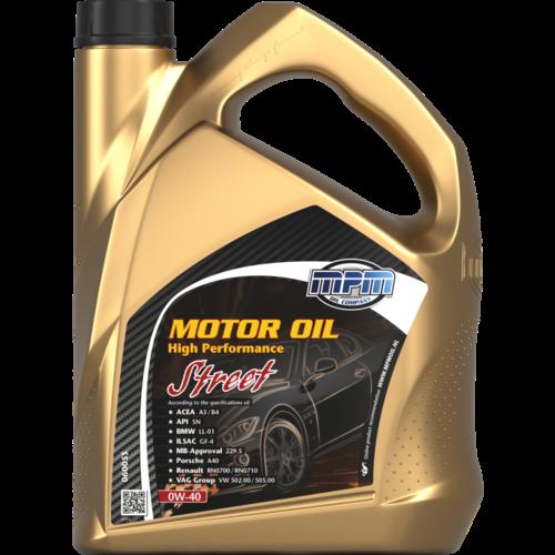 MPM MOTOR OIL 0W-40 HIGH PERFORMANCE STREET 5 LITER 06005S