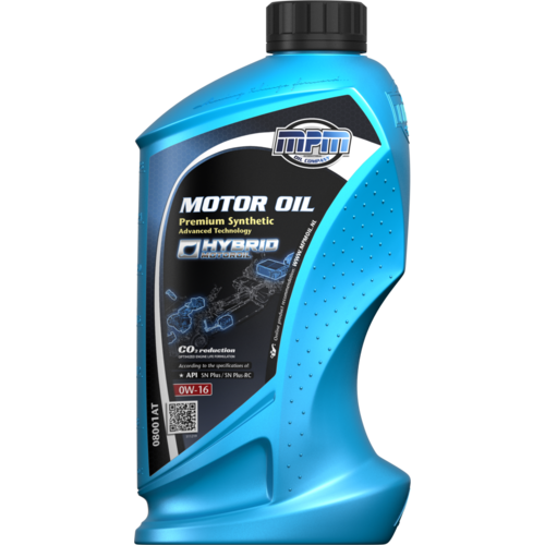 MPM MOTOR OIL 0W-16 PREMIUM SYNTHETIC ADVANCED TECHNOLOGY 1 LITER 08001AT