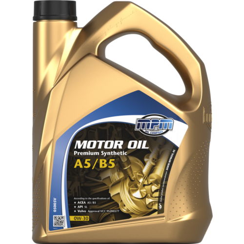MPM MOTOR OIL 0W-30 PREMIUM SYNTHETIC A5/B5 5 LITER 05005V