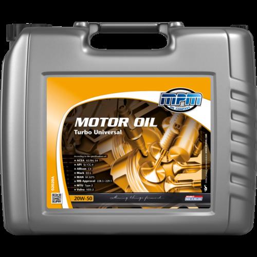 MPM MOTOR OIL 20W-50 TURBO UNIVERSAL 20 LITER 02020A