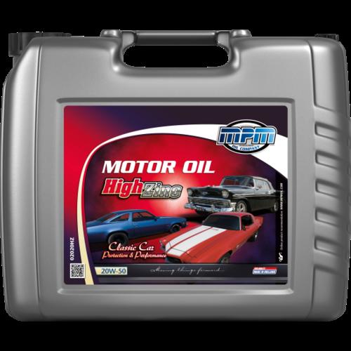 MPM MOTOR OIL 20W-50 CLASSIC HIGH ZINC 20 LITER 02020HZ