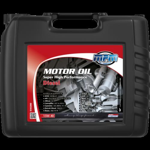 MPM MOTOR OIL 15W-40 SUPER HIGH PERFORMANCE DIESEL 20 LITER 03020D