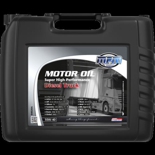 MPM MOTOR OIL 10W-40 SUPER HIGH PERFORMANCE DIESEL TRUCK 20 LITER 04020A