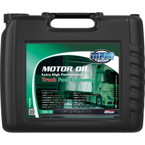 MPM MOTOR OIL 10W-30 EXTRA HIGH PERFORMANCE TRUCK FUEL ECONOMY 20 LITER 04020AB