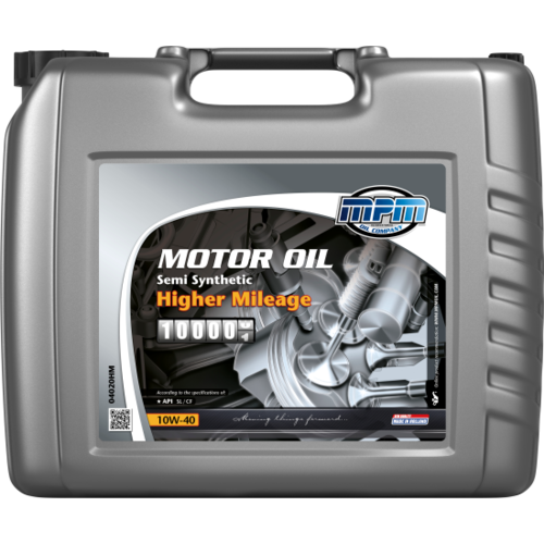 MPM MOTOR OIL 10W-40 SEMI SYNTHETIC HIGHER MILEAGE 20 liter 04020HM