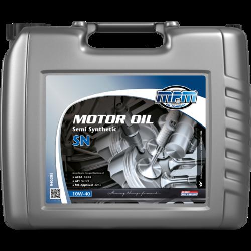 MPM MOTOR OIL 10W-40 SEMI SYNTHETIC SN 20 LITER 04020S