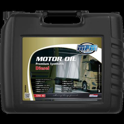 MPM MOTOR OIL 10W-40 PREMIUM SYNTHETIC DIESEL 20 LITER 05020A