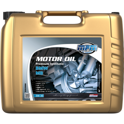 MPM MOTOR OIL 5W-30 PREMIUM SYNTHETIC BMW / MB 20 LITER  05020BM
