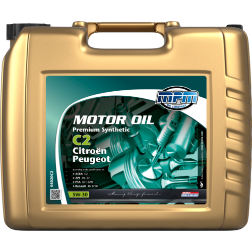 MPM MOTOR OIL 5W-30 PREMIUM SYNTHETIC C2 CITROËN / PEUGEOT 20 LITER 05020C2