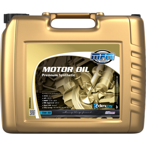 MPM MOTOR OIL 5W-30 PREMIUM SYNTHETIC GM DEXOS 2™ 20 LITER 05020DEX