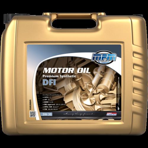 MPM MOTOR OIL 5W-30 PREMIUM SYNTHETIC DFI 20 LITER 05020DFI