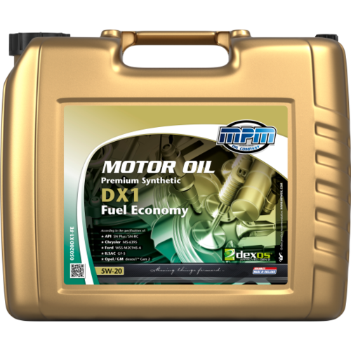 MPM MOTOR OIL 5W-20 PREMIUM SYNTHETIC DX1 FUEL ECONOMY 20 LITER 05020DX1-FE