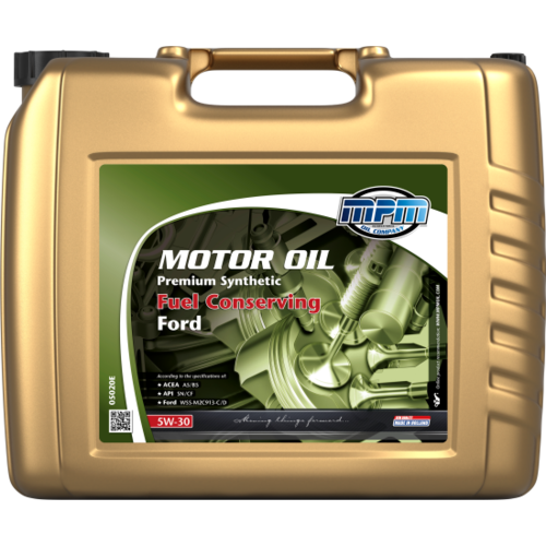 MPM MOTOR OIL 5W-30 PREMIUM SYNTHETIC FUEL CONSERVING FORD 20 LITER 05020E