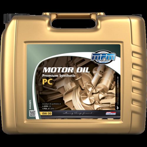 MPM MOTOR OIL 0W-30 PREMIUM SYNTHETIC PC 20 LITER 05020PC