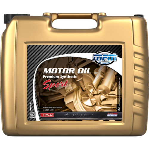 MPM MOTOR OIL 10W-60 PREMIUM SYNTHETIC SPORT 20 LITER 05020R