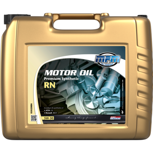 MPM MOTOR OIL 5W-30 PREMIUM SYNTHETIC RN 20 LITER 05020RN
