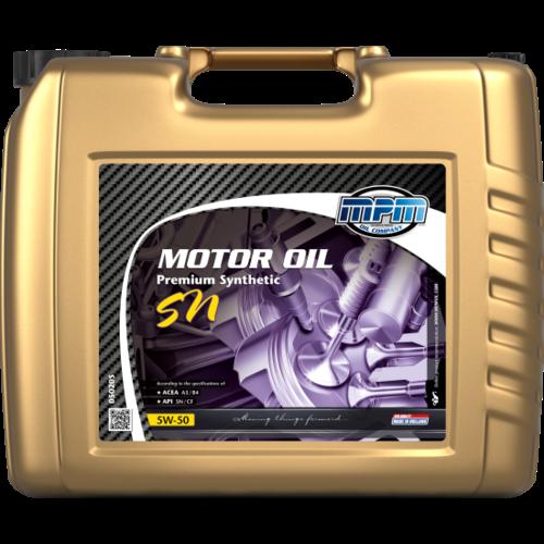 MPM MOTOR OIL 5W-50 PREMIUM SYNTHETIC SN 20 LITER 05020S