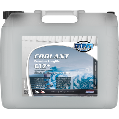 MPM COOLANT PREMIUM LONGLIFE -40°C G12+ READY TO USE CLEAR / BLANK 20 LITER  86020CBL