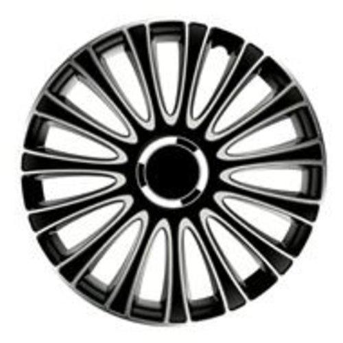 """Carpoint Gorecki Wieldoppenset LeMans Pro 13"""" Zwart/Zilver"""