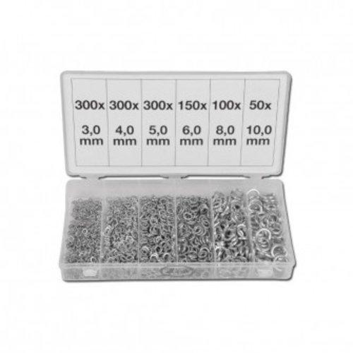 Weber Tools Assortiment Veerringen / sluitringen 1200 pcs fd-1250