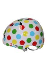 XCOOL fietshelm kind Polka rainbow