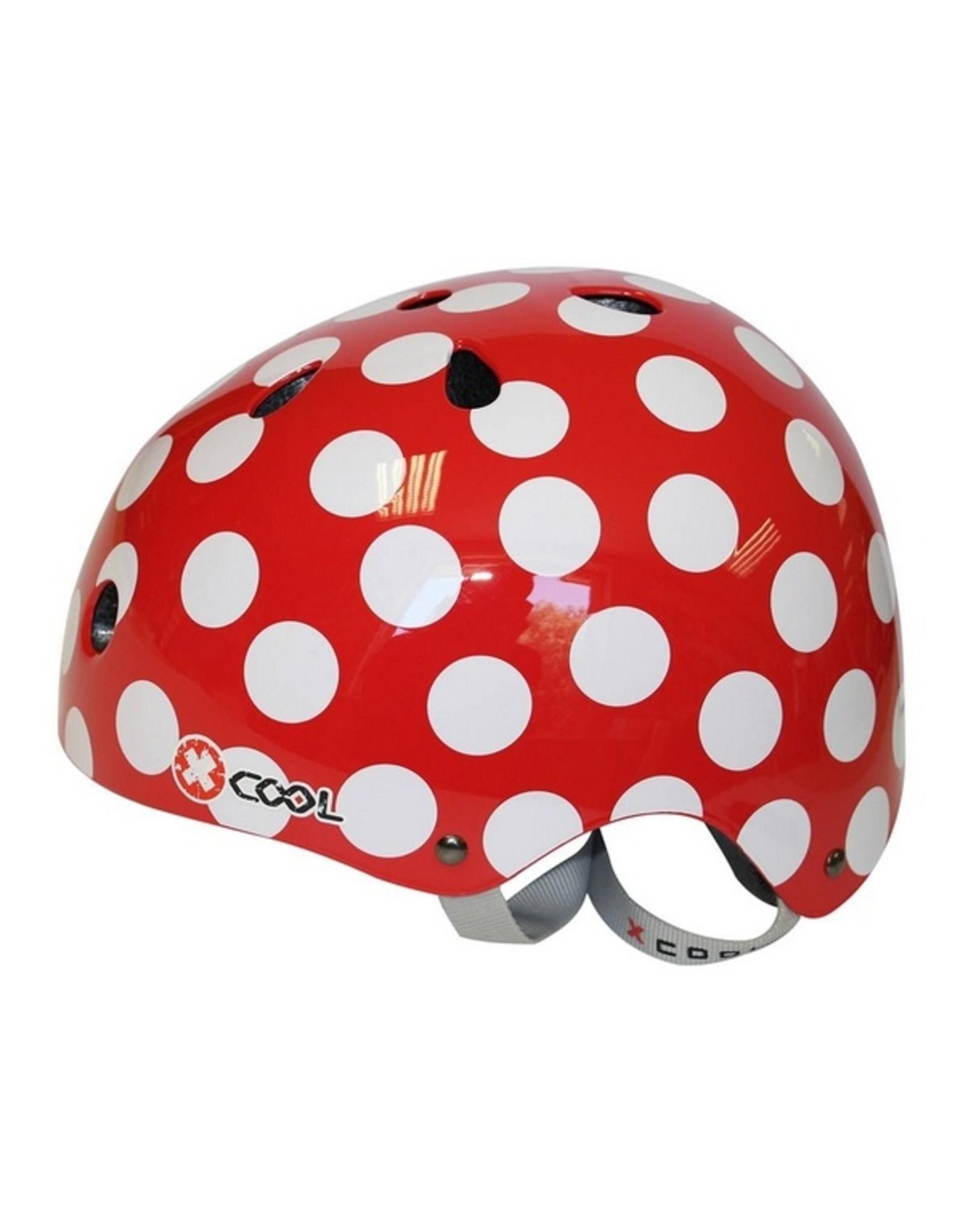 XCOOL fietshelm kleuter Polka rood