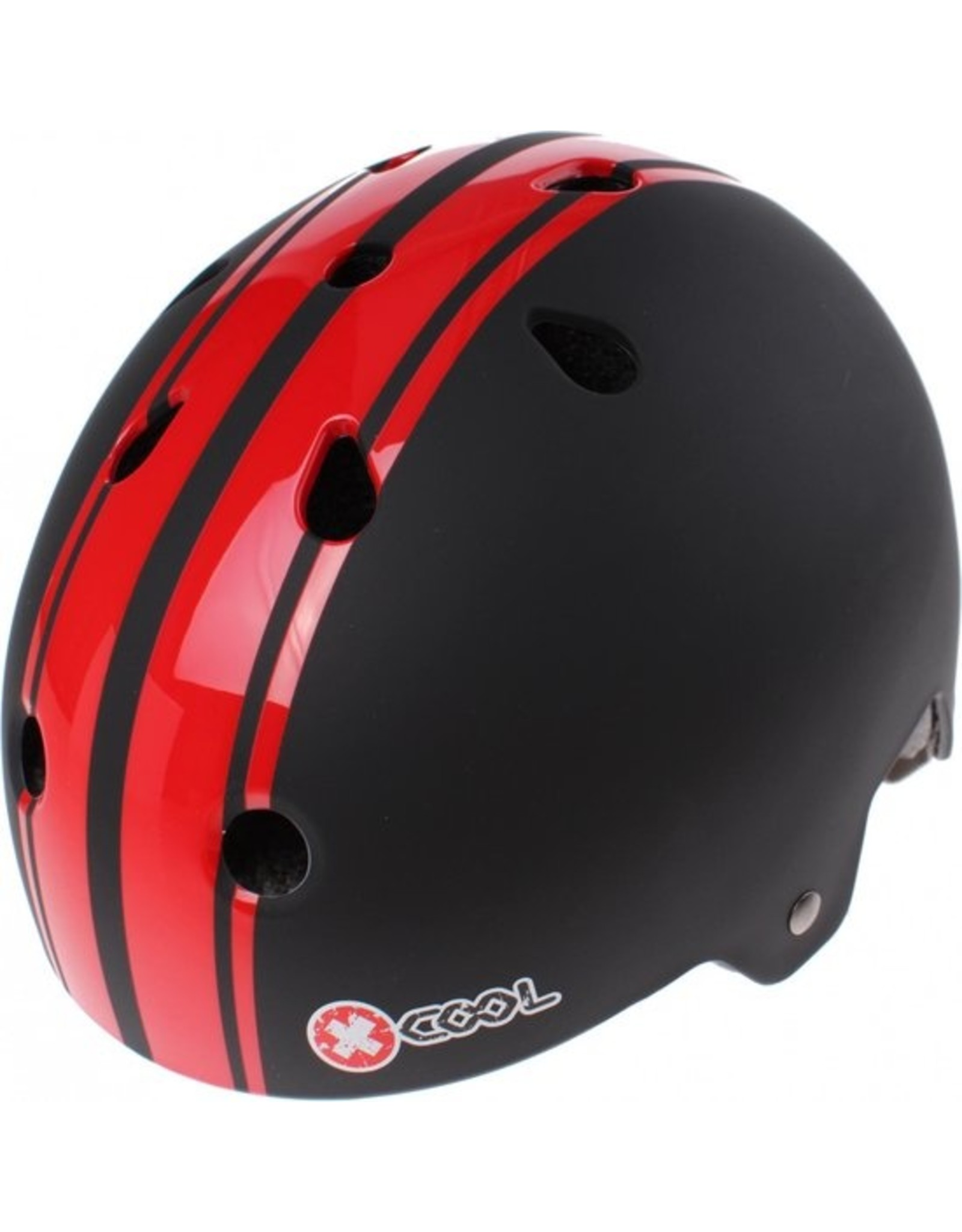 XCOOL fietshelm kleuter 2.0  Pinstripes rood