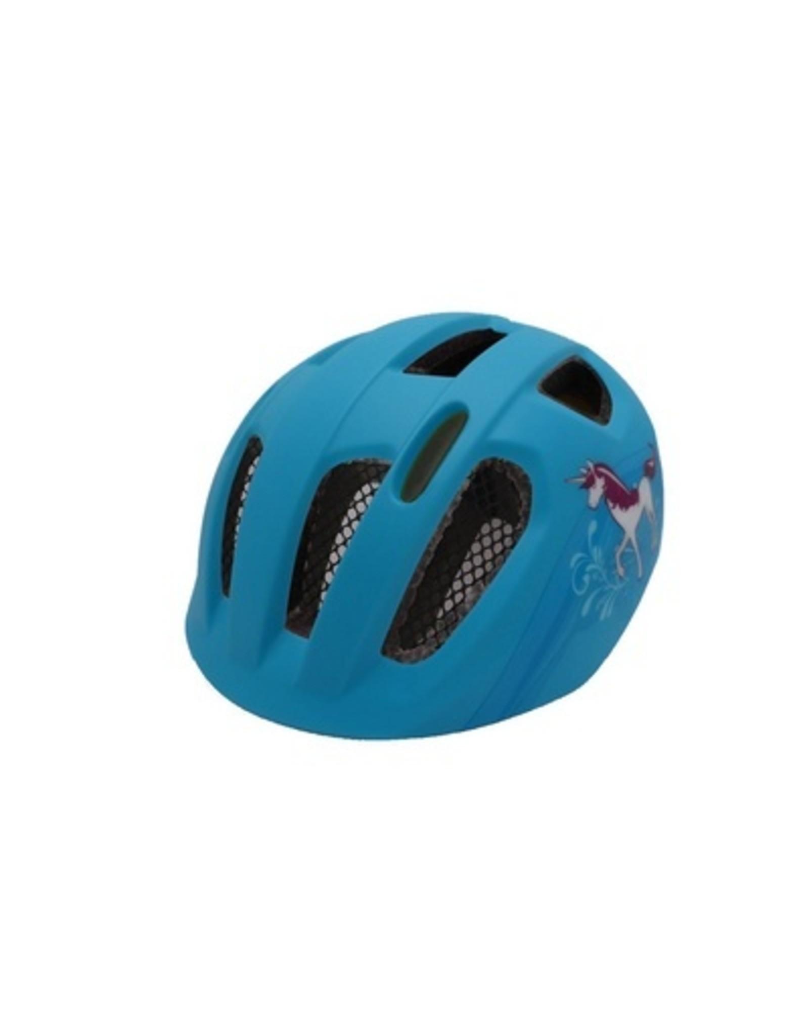 QT fietshelm kind Nova blauw