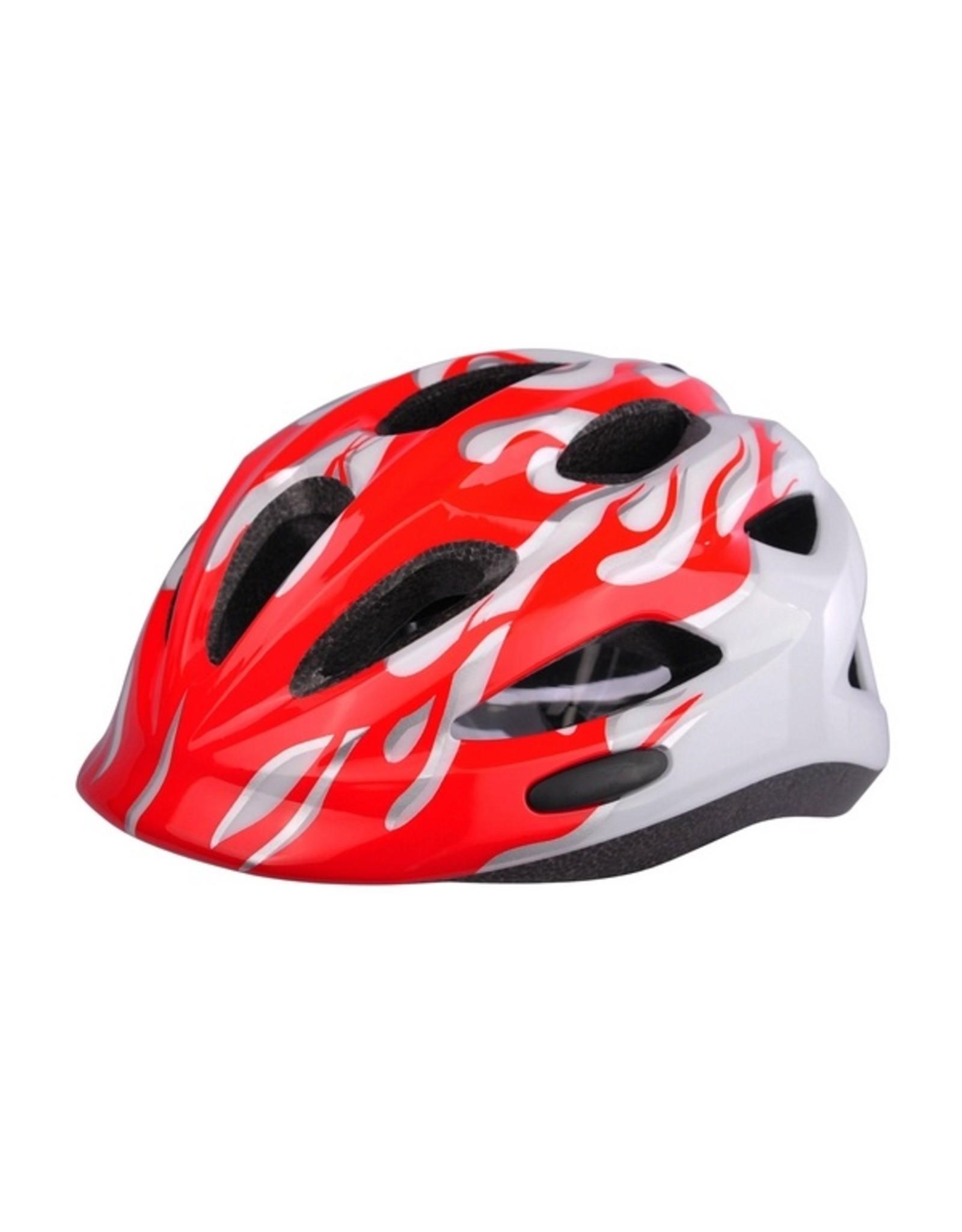 QT fietshelm kleuter Red Flames