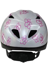 QT fietshelm kleuter White Flowers